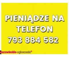 Pieniądze na telefon. Ile potrzebujesz? Pozabankowa 793884582